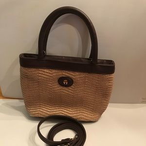 Etienne Aigner Mini Woven Straw Bag